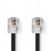 Telekomunikační kabel | RJ11 Zástrčka – RJ11 Zástrčka | 10 m | Černá barva