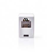 Telekomunikační Coupler | RJ11 Zásuvka – RJ11 Zásuvka | Bílá barva