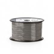 Vyvážený Audio Kabel | 2x 0,16 mm² | 100 m | Cívka | Šedá barva