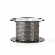 Vyvážený Audio Kabel | 2x (2x 0,16 mm²) | 100 m | Cívka | Šedá barva