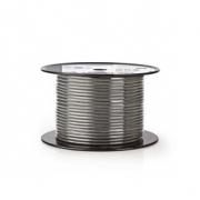DMX Kabel 110 Ohmů | 2x 0,23 mm² | 100 m | Cívka | Šedá barva