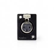 Držák skříně XLR | XLR 3pinová Zásuvka | Černá barva
