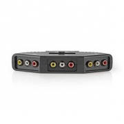 3-portový Přepínač AV | 3x RCA (RWY) Vstup – 1x RCA (RWY) Výstup | Černá barva