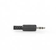 Stereofonní Jack Konektor   3,5mm Zástrčka   25 ks   Černá barva