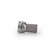 Konektor F | Samec | Pro 6,4mm Koaxiální Kabely | 25 ks | Kov