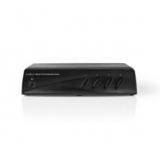 AV Přepínač| 4× (RWY) + S-Video – 1× RCA (RWY) + Zásuvka pro Výstup Sluchátek | Černý