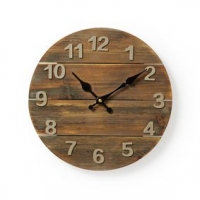 Nástěnné hodiny | Průměr: 300 mm | Dřevo | Hnědá