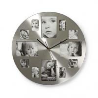 Nástěnné hodiny | Průměr: 400 mm | Kov | Stříbrná