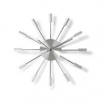 Nástěnné hodiny | Průměr: 340 mm | Kov | Stříbrná