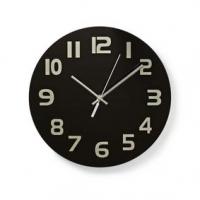 Nástěnné hodiny | Průměr: 300 mm | Sklo | Černá