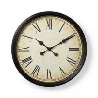 Nástěnné hodiny | Průměr: 500 mm | Plast | Černá / Krémová
