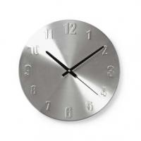 Nástěnné hodiny | Průměr: 300 mm | Kov | Stříbrná