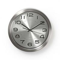 Nástěnné hodiny | Průměr: 300 mm | Nerezová Ocel | Stříbrná