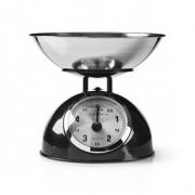 Retro kuchyňská váha | Analogový | Kov | Černá barva