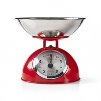 Retro kuchyňská váha | Analogový | Kov | Červená barva