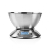 Digitální kuchyňská váha | Osvětlený LCD displej | Teplota | Budík | Kov