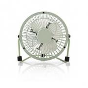 Kovový Mini Ventilátor | Průměr 10 cm | Napájení prostřednictvím USB | Zelená