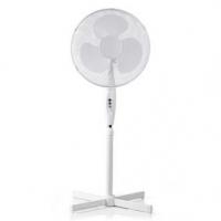 Stojanový Ventilátor | Průměr: 400 mm | 3-Rychlostní | Rotace | 45 W | Nastavitelná výška | Bílá