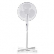 Stojanový Ventilátor | Nastavitelná Výška | Průměr 40 cm | 3 Rychlosti | Bílá barva