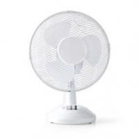 Stolní Ventilátor | Síťové napájení | Průměr: 230 mm | 22 W | Rotace | 2-Rychlostní | Bílá