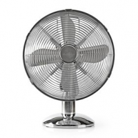 Stolní Ventilátor | Síťové napájení | Průměr: 300 mm | 35 W | Rotace | 3-Rychlostní | Chróm