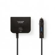 Univerzální napájecí adaptér DC   5/12 V DC   Nabíječka/USB do auta   3cestný