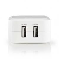 Síťová Nabíječka | Funkce rychlého nabíjení | 2x 2.4 A | Počet výstupů: 2 | 2x USB-A | Kabel Není Součástí | 24 W | Jediné Výstu