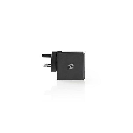 Nástěnná nabíječka | 3,0 A | USB (QC) / USB-C | Power Delivery: 30 W | Černá barva