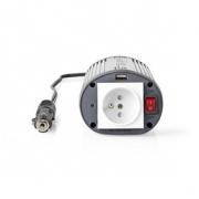 Měnič, Modifikovaná Sinusová Vlna | 12 V DC – 230 V AC | 150 W | 1x Zemnicí Kolík / 1x USB Výstup