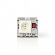 Měnič, Modifikovaná Sinusová Vlna | 24 V DC – 230 V AC | 300 W | 1x Zemnicí Kolík / 1x USB Výstup