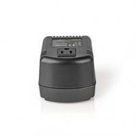 Power Converter | Síťové napájení | 230 VAC 50 Hz | Výstupní napětí: 110 VAC | 100 W | Zásuvka typu F | Vybaven pojistkou | Čern