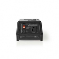 Power Converter | Síťové napájení | 230 VAC 50 Hz | Výstupní napětí: 110 VAC | 300 W | Zásuvka typu F | Vybaven pojistkou | Čern