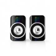 Herní Reproduktory | 2.0 | RGB | Napájení USB | Jack 3,5 mm | RMS 10 W