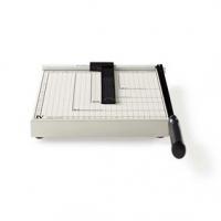 Řezačka Papíru | Max. řezná velikost: 210 x 297 mm | Typ nože: Kov | Kov | Bílá / Černá