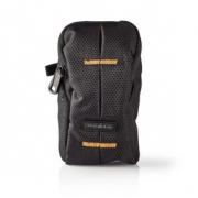 Brašna na fotoaparát | 120 × 70 × 35 mm | 1 Vnitřní kapsa | Černá/Oranžová