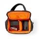 Brašna přes rameno pro kameru   152 × 146 × 65 mm   2 Vnitřní kapsy   Černá/Oranžová