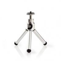 Mini stativ | Otáčení a náklon | Max. 0,8 kg | 13,4 cm | Černá / Stříbrná