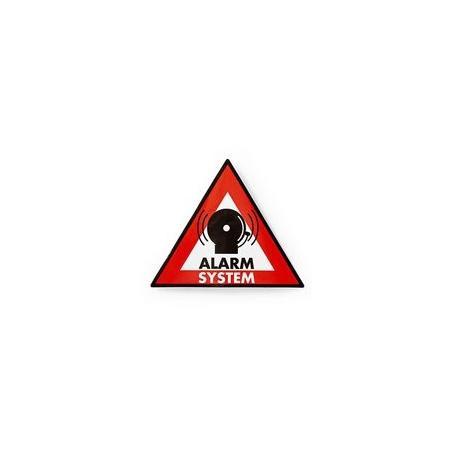 Výstražná Samolepka | Symbol Poplachového systému | Sada 5 kusů