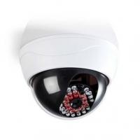 Atrapa bezpečnostní kamery | Kupolovitá | Napájení z baterie | Do interiéru | Bílá