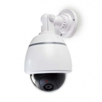Atrapa bezpečnostní kamery | Kupolovitá | Napájení z baterie | Vnitřní | Bílá