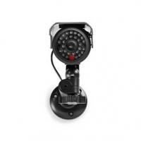 Atrapa bezpečnostní kamery | Válcová | IP44 | Napájení z baterie | Pro venkovní použití | Včetně držáku na zeď | Černá