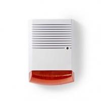 Atrapa Bezpečnostní Sirény | IP44 | Napájení z baterie | Venkovní | Bílá / Oranžová