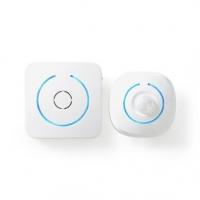 Alarm s Detektorem Pohybu | Napájení z baterie | 3x AA | 85 dB | Rozsah detektoru: 6 m | Nástěnné | 2 ks | Bílá / Modrá