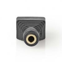 CCTV Security Connector | 3cestná svorkovnice | 3,5mm Jack Zásuvka | Zásuvka | Černá / Zelená