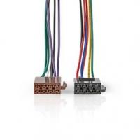 Standardní Kabel ISO | Rádiový konektor - 2x Auto konektor | 0,15 m | Více barev