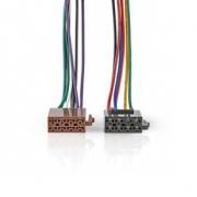 Standardní Kabel ISO | Rádiový konektor – 2x Auto konektor | 0,15 m | Více barev