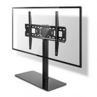 """TV Stojan Fixní   32-65 """"   Maximální podporovaná hmotnost obrazovky: 45 kg   Nastavitelné výšky   Ocel / Tvrzené sklo   Černá"""
