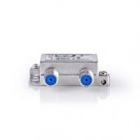 Slučovač Satelitního Signálu | 5-862 MHz | 950-2400 MHz | 75 Ohm | Power pass | Zinc | Stříbrná