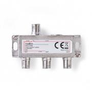 Satelitní F-Rozbočovač | Max. zisk 10,5 dB | 5–2 400 MHz | 3 Výstupy