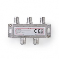 CATV Splitter   5 - 2400 MHz   Útlum: 11.5 dB   Počet výstupů: 4   75 Ohm   Zinc